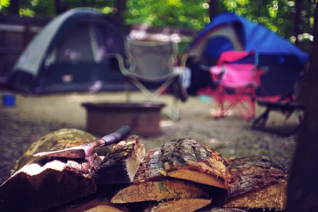 Camping with tents at Wilderness Presidential Resort