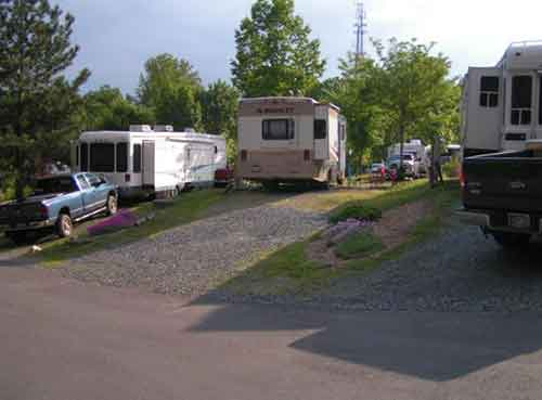 RV Camper sites at Aquia Pines Stafford VA