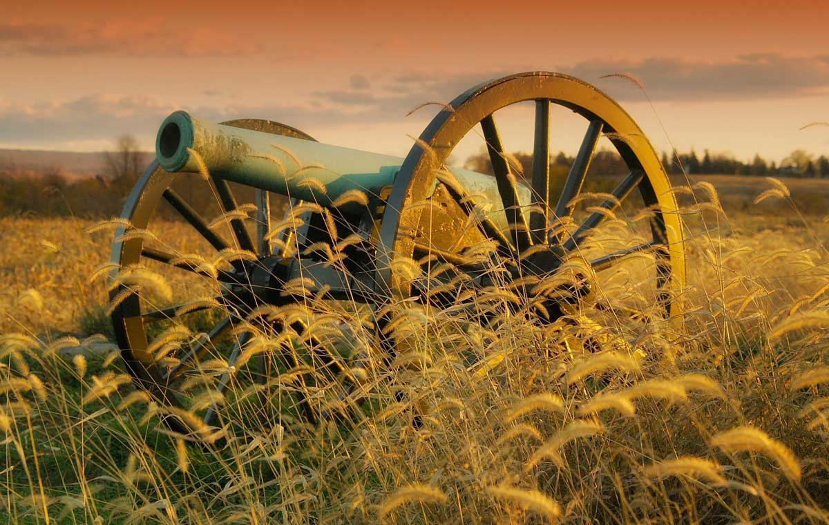 Cannon in Battlefield Stock Image at Wilderness Presidential Resort
