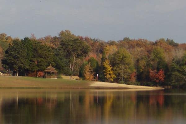 Wilderness Presidential Resort from Across the Lake Toward the Beach
