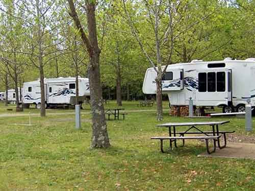 RV camping sites at Harbor View