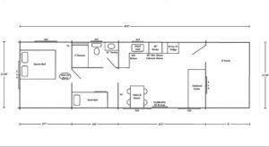 Holly Camp Cottage Floor Plan at Wilderness Presidential Resort