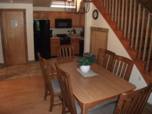 Log Cabin Dining and Kitchen