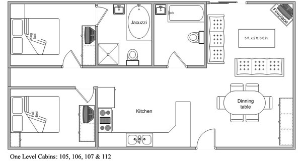 Log Cabin One Level Floor Plan