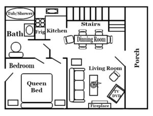 Log Cabin Floor Plan at Wilderness Presidential Resort