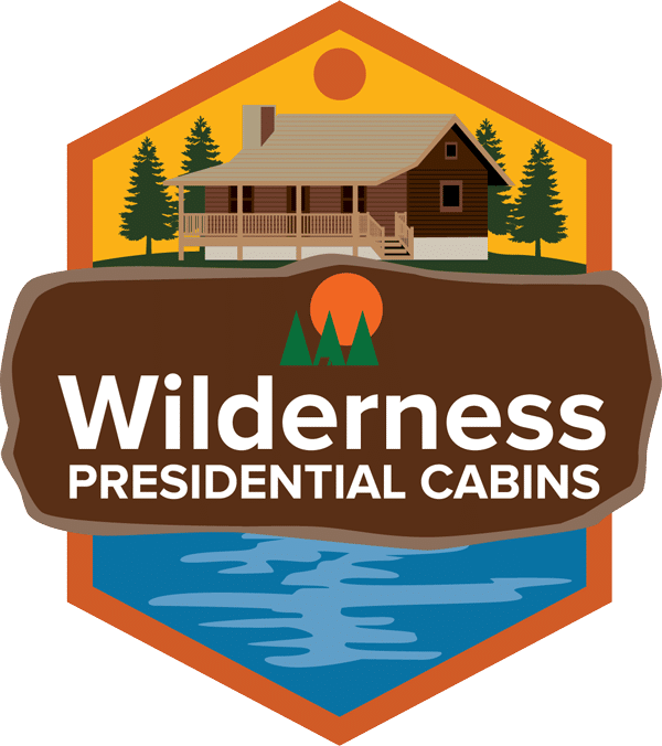 Wilderness Presidential Resort Log Cabin Emblem