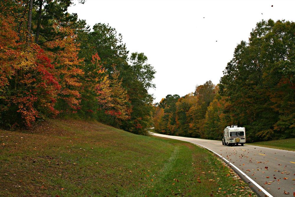 Wilderness Presidential Resort Camper on Fall Road