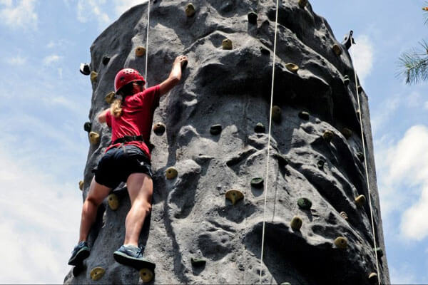 Wilderness Presidential Resort Adventure Park Rock Climbing