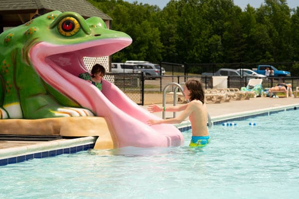 Wilderness Kids Pool with Frog Slide and Kids at Wilderness Presidential Resort