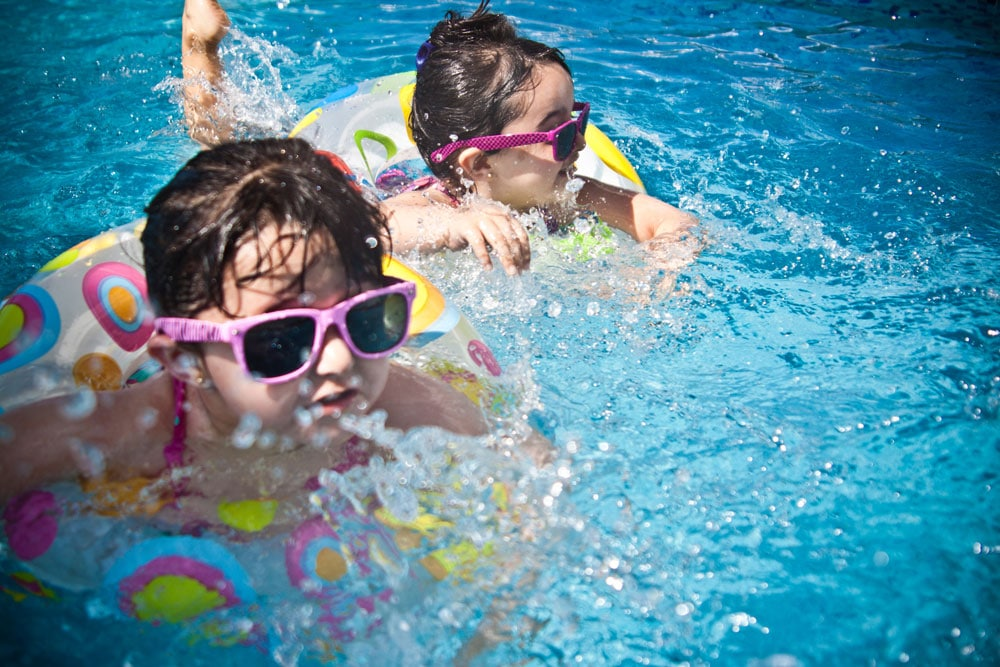 Wilderness Presidential Resort Girls in shades in Floaties in the Pool