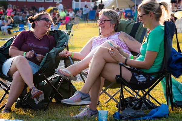 Lawn Chair Spectators at Wilderness for Events