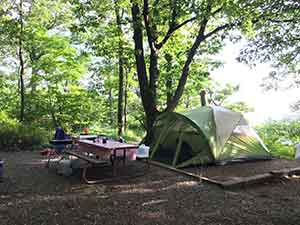 Loft Mountain tent site in Virginia