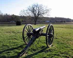 Civil War cannon on Chancellorsville Battlefield