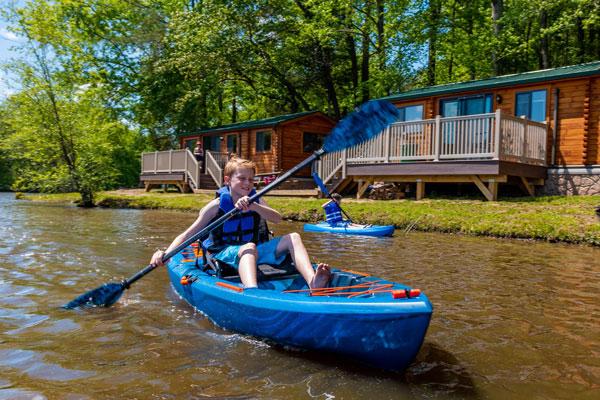 Older kids kayaking