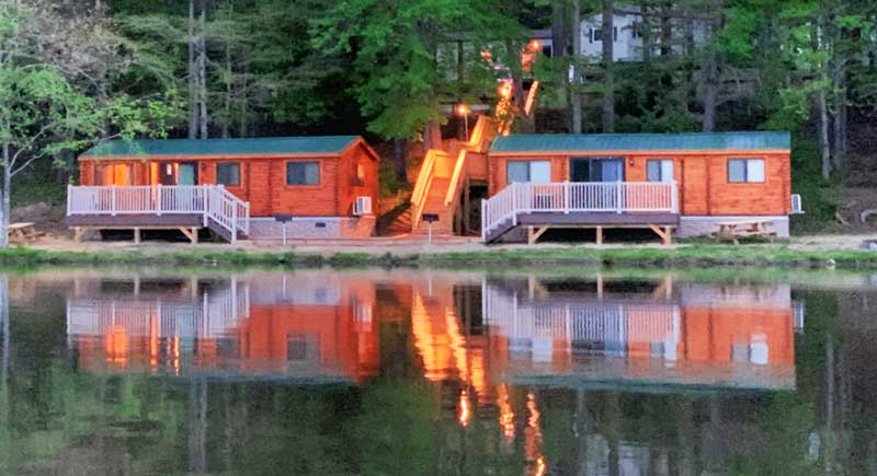 Cool Springs Cabins at Night