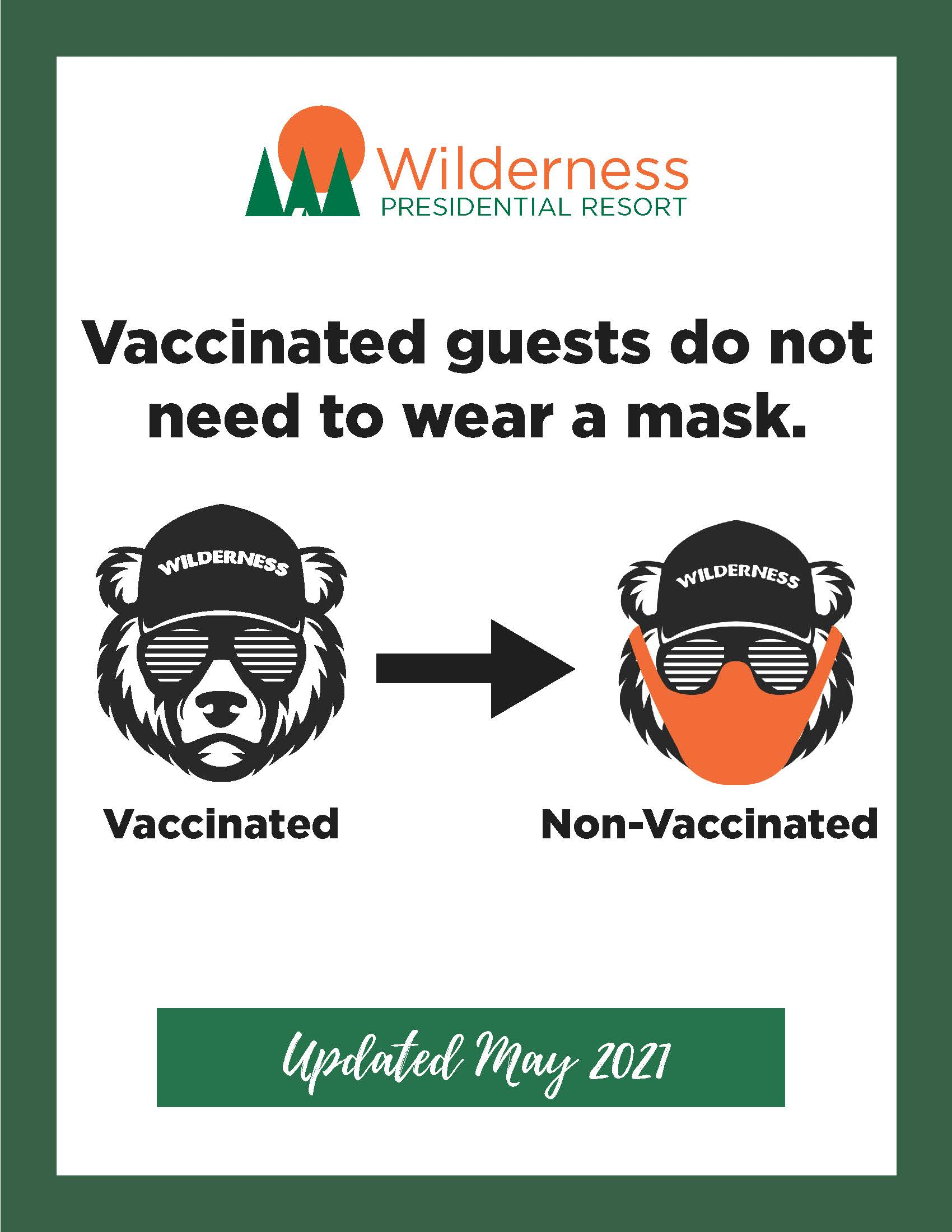 No mask required if vaccinated.