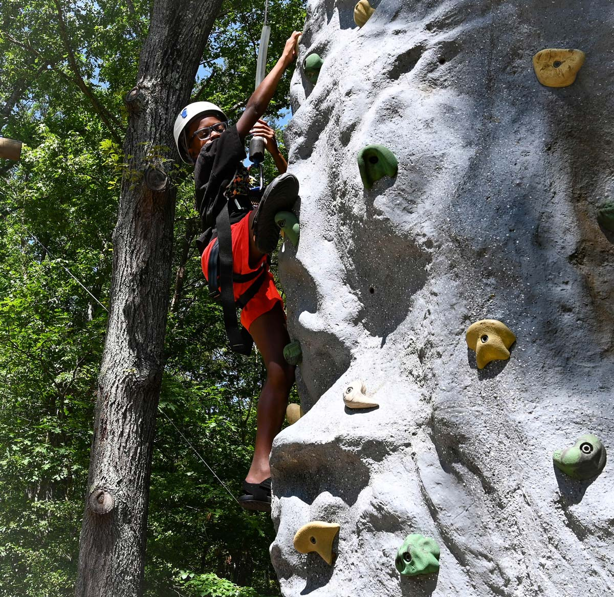 Rock wall climb
