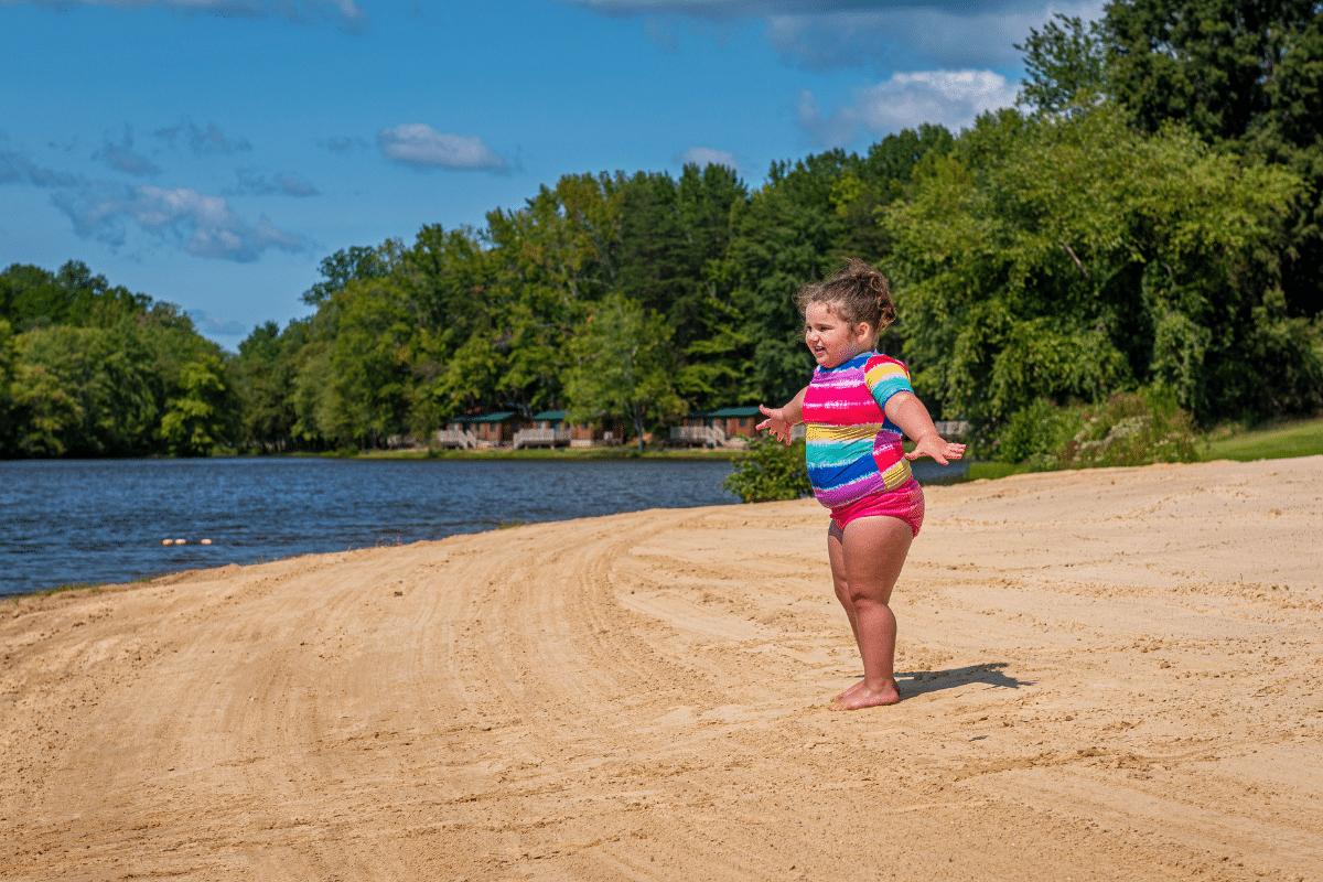 Girl on Wilderness Beach