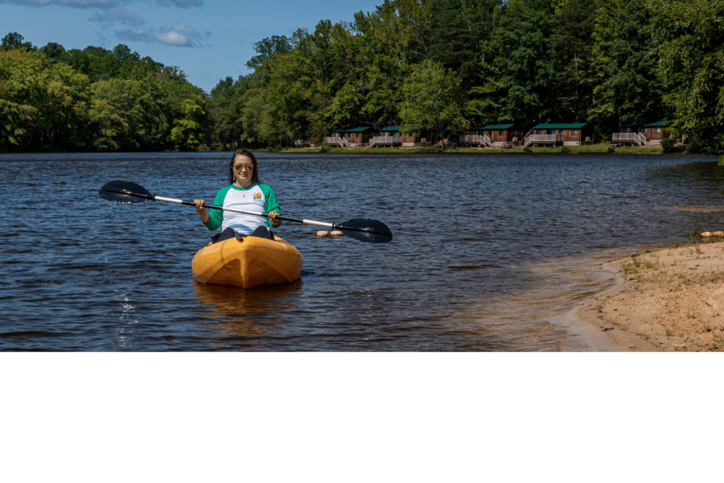 Kayak with Camp Cabins
