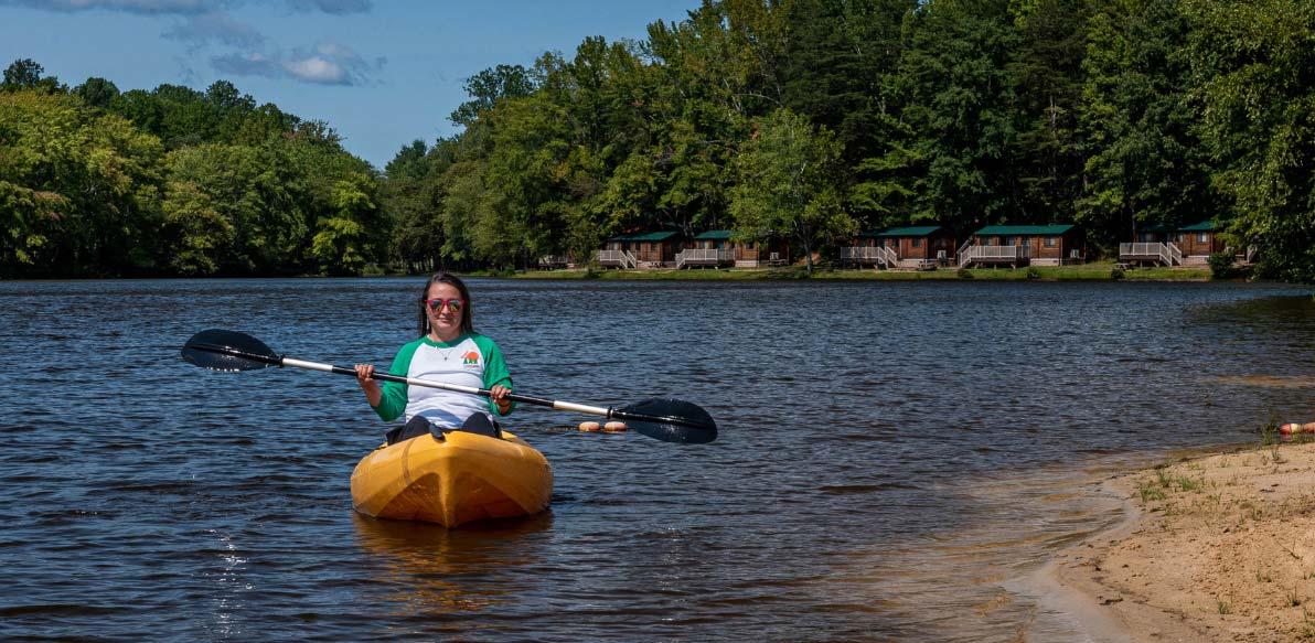 Kayak and Cabins