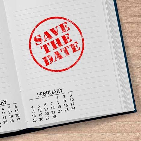 Calendar Save the Date at Wilderness Presidential Resort