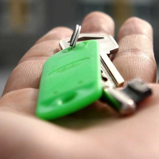 Keys in Hand Stock Photo