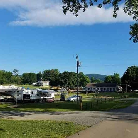 RV sites at Misty Mounting camping in Virginia