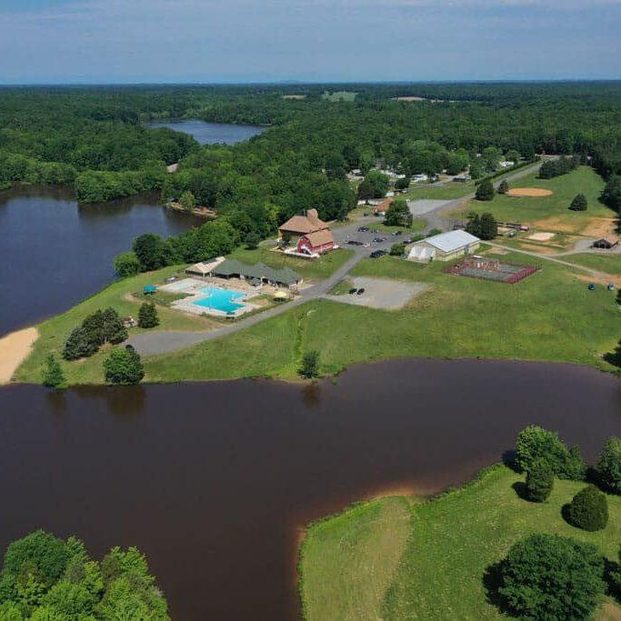 Aerial Drone Shot of Wilderness Presidential Resort